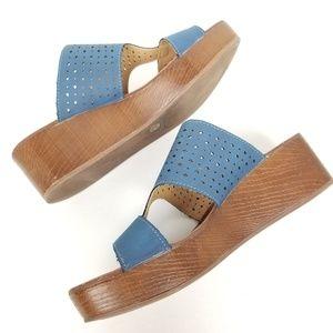 Lucky Brand | wedges | sandals | blue | denim